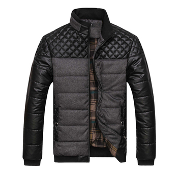 Brand Men's and Coats 4XL PU Patchwork Designer Jackets Men Outerwear Winter Fashion Male Clothing J6T004