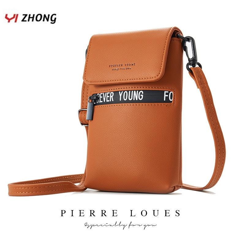 Fashion Letter Luxury Shoulder Bag Chest Bag For Women Ladies Leather Card Cell Phone Coin Pocket Purses Female Messenger Bag