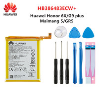 Hua wei 100% orginal hb386483ecw + 3340 mah bateria para huawei maibang 5 honra 6x g9 mais gr5 2017 MLA-AL00/al10 baterias + ferramentas