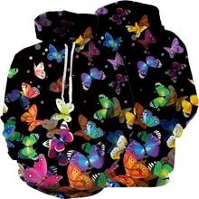 Hoodies Sweatshirts Streetwear Thin-Style Butterfly Girl Dog 3D Dog-3d-Printed Creative