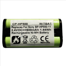 TTVXO Перезаряжаемые Батарея 550 мА/ч, 2,4 V Sony BP-HP550-11 MDR-RF810RK MDR-RF810R наушники Батарея