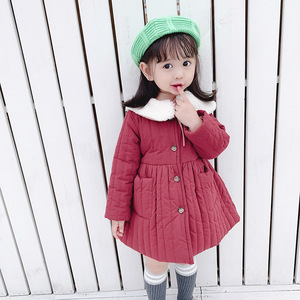 Image 4 - 2019 fashion new girl baby winter coat girls kids fur collar cotton padded warm princess coats children clothes jackets