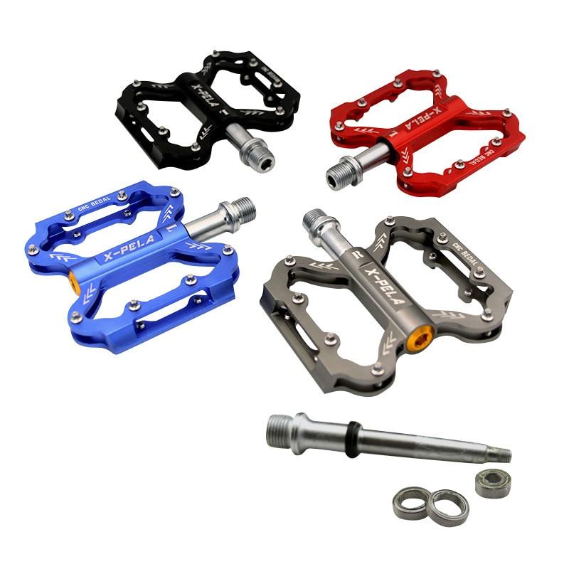 Педали для велосипеда из нейлонового волокна, 4 цвета, ультра-светильник rockbros, педали для горного велосипеда, большой ножной подшипник, педа...