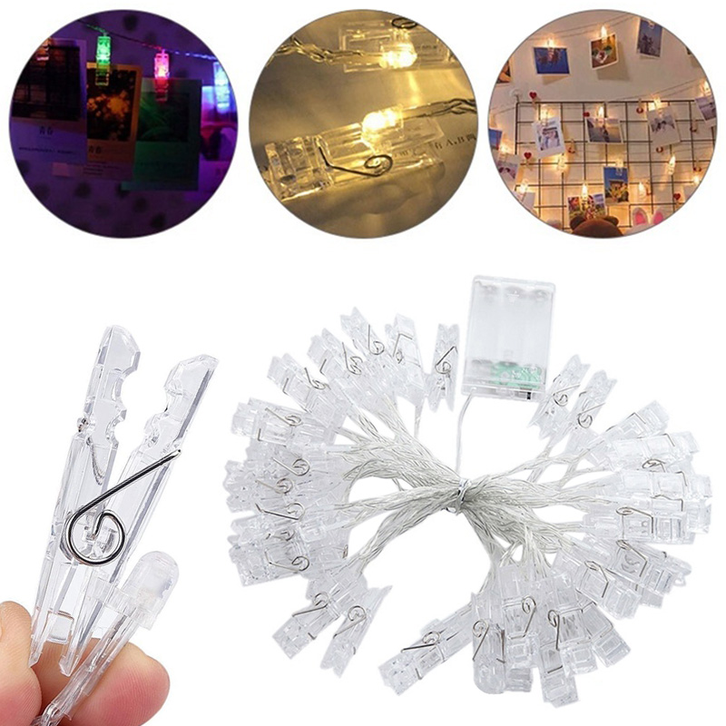 Home Celebration Photo Clips String Lights Out Door Battery Powered Wedding Wall Decoration Creative NEW Hanging Photos