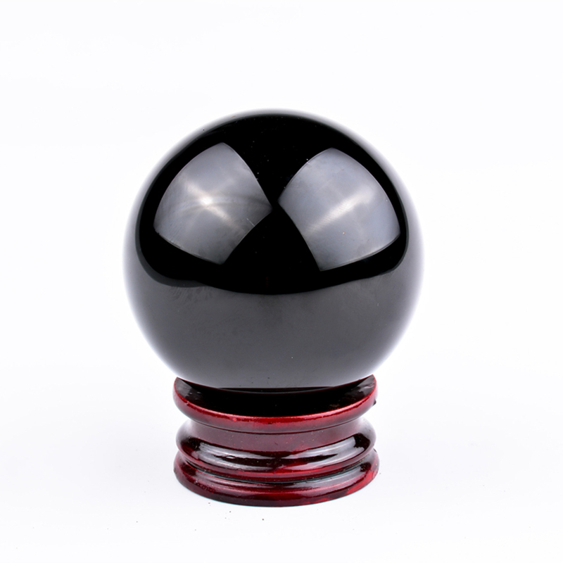 60mm esfera obsidiana preto natural pura bola