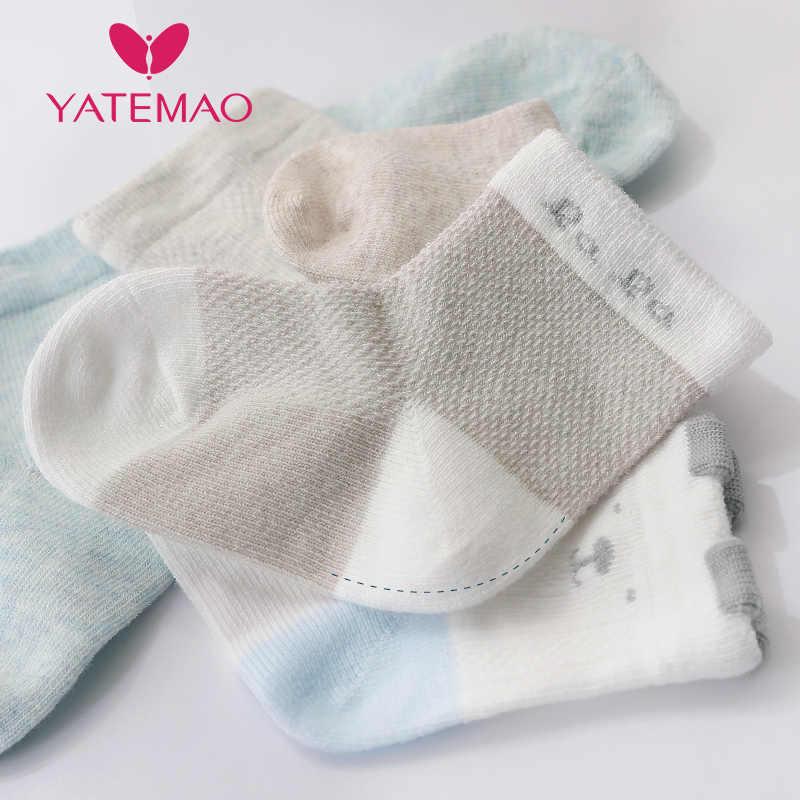Yatemao 5 Cặp/lô 0-2Y Bé Tất Dành Cho Bé Gái Cotton Lưới Dễ Thương Sơ Sinh Bé Trai Tập Đi Tất Quần Áo Trẻ Em Phụ Kiện