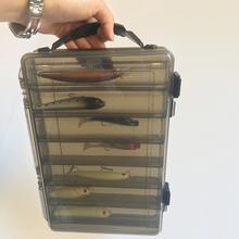 PPGUN 2021 nowe narzędzie pudełko o dużej pojemności pudełko ze sprzętem wędkarskim podwójne decker Sub-pudełko na przynęty przenośny przynęty sprzęt wędkarski pudełko do przechowywania tanie tanio toio CN (pochodzenie) Z tworzywa sztucznego Fishing Box Do rybołówstwa łodziowego na oceanie fishing tackle box