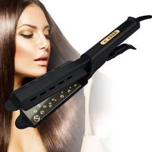 Prostownica do włosów regulacja temperatury w czterech biegach ceramiczna turmalinowa jonowa prostownica do włosów dla kobiet Widen panel tanie tanio lobemoky 50-60 w Cyfrowy 160 ° c Suche 220 ° c Stałe Nie-obrotowy 60x15mm Innych 3-5 min Tourmaline ceramic Żelaza