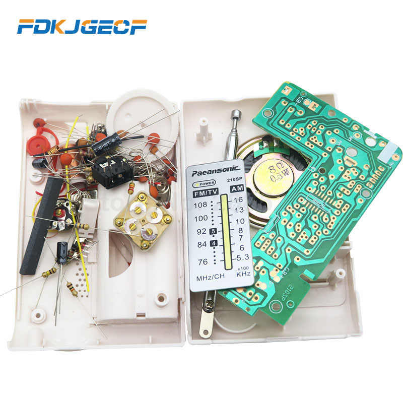 CF210SP AM/FM ステレオラジオキット DIY 電子組み立てるセットキット学習者月ドロップシップ