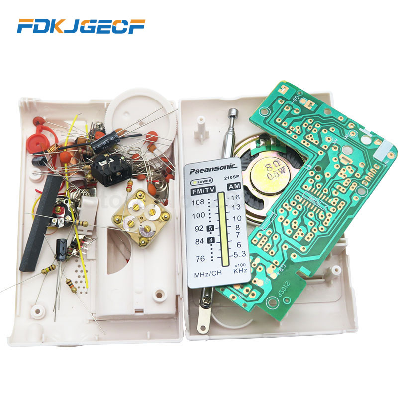 CF210SP AM/FM Stereo Radio Kit DIY Electronic Assemble Set Kit For Learner July DropShip(China)