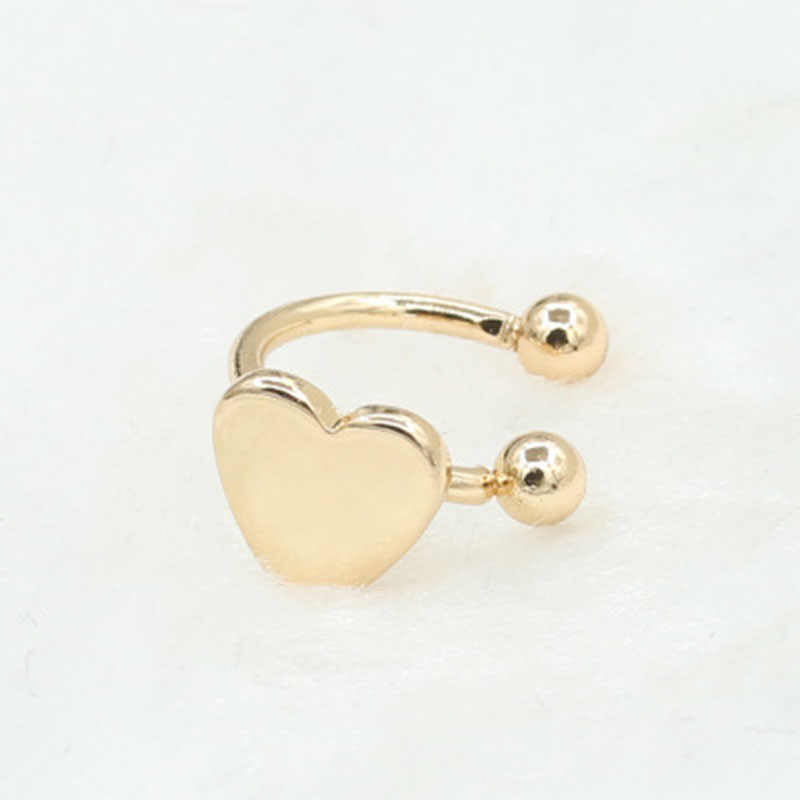 בציר קליפ על עגילי ירח תלתן כוכב לב משולש לא פירסינג עגילים עגילים לנשים תכשיטים Brincos Bijoux