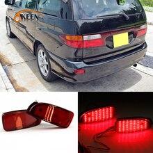 2PCS For Toyota Estima 2014 LED Rear Bumper Reflector Light Rear Fog Lamp Auto Bulb Brake Driving Warning Light Reflector