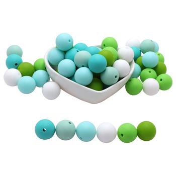 BOBO BOX 12mm kulki silikonowe 10 sztuk okrągły przyrząd do rozdzielania jedzenia dla DIY naszyjnik na ząbkowanie dla dziecka opieki gryzak dla niemowląt tanie i dobre opinie Pojedyncze załadowany Teether CN (pochodzenie) Lateksu Nitrosamine darmo Ftalanów BPA za darmo 7-9 miesięcy 12mm silicone beads