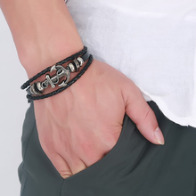 Pulsera de ancla de moda XTHUNDER para hombres y mujeres, pulseras de cuero Vintage, pulseras Retro Antiguo, pulsera de plata para hombre