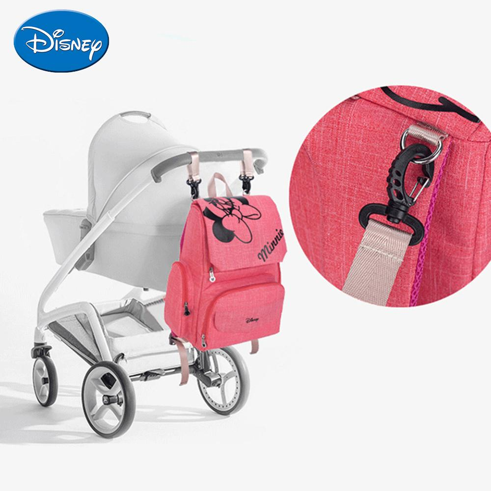 Image 2 - Disney Maternity Diaper Bag Cute Minnie Mickey Printed Mommy Backpacks Large Capacity Baby Stroller Nursing Nappy Storage Bag-in Diaper Bags from Mother & Kids