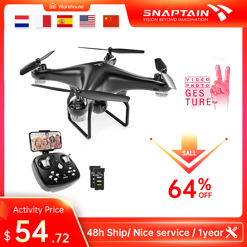 SNAPTAIN SP600 Drone with Camera WiFi FPV RC Quadcopter 720P HD Camera Voice Control Gesture Control for Adults Kids  Beginners