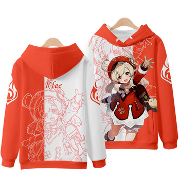 GAMPORL New Genshin Impact Cosplay Costumes Men's Color Printing Jacket With Hat Couple Sweatshirt Pullover Anime Game Clothing 1