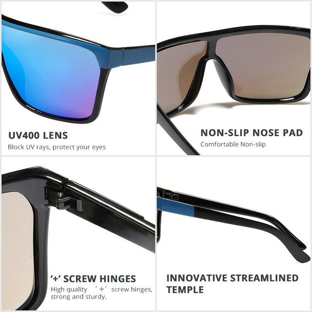 KDEAM Flynn Stil Sonnenbrille Männer Plus Form Outdoor Anti-reflektierende Sonnenbrille Frauen mit Erdnuss Box