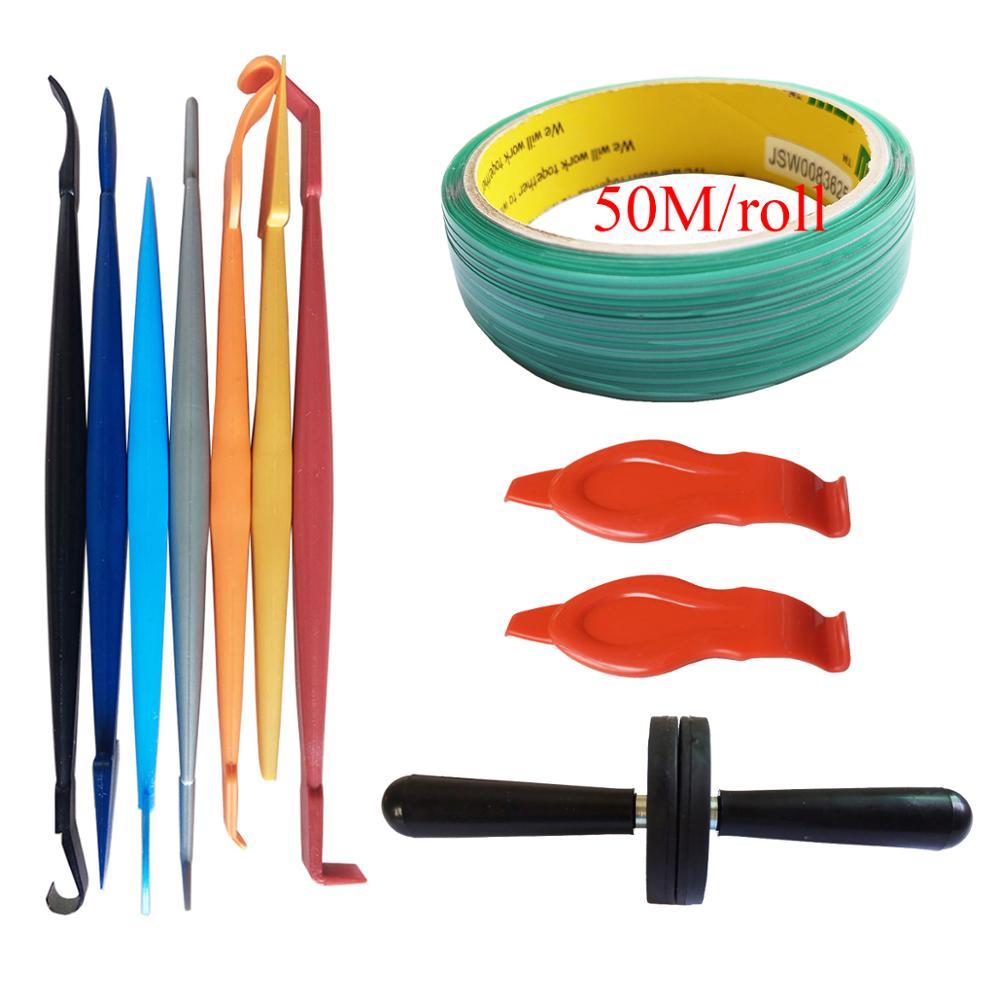 Vinyle Wrap outils d'application couteau ligne aimant raclette fenêtre teinte Auto graphique papier peint autocollant Installation K114