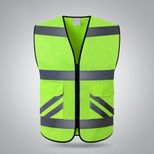 Practical High Visibility Multi Pocket Reflective Vest Outdoor Night Running Cycling Safety Vest Warning Reflective Clothing reflective safety warning pvc strip garment accessories safety vest clothing reflective crystal lattice pvc tapes