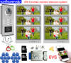 """Video Intercom With Recording 32GB Wifi 9"""" Home Intercom 6 Apartments Security Door Entry Rfid Camera Web Wire Connection+ Lock"""