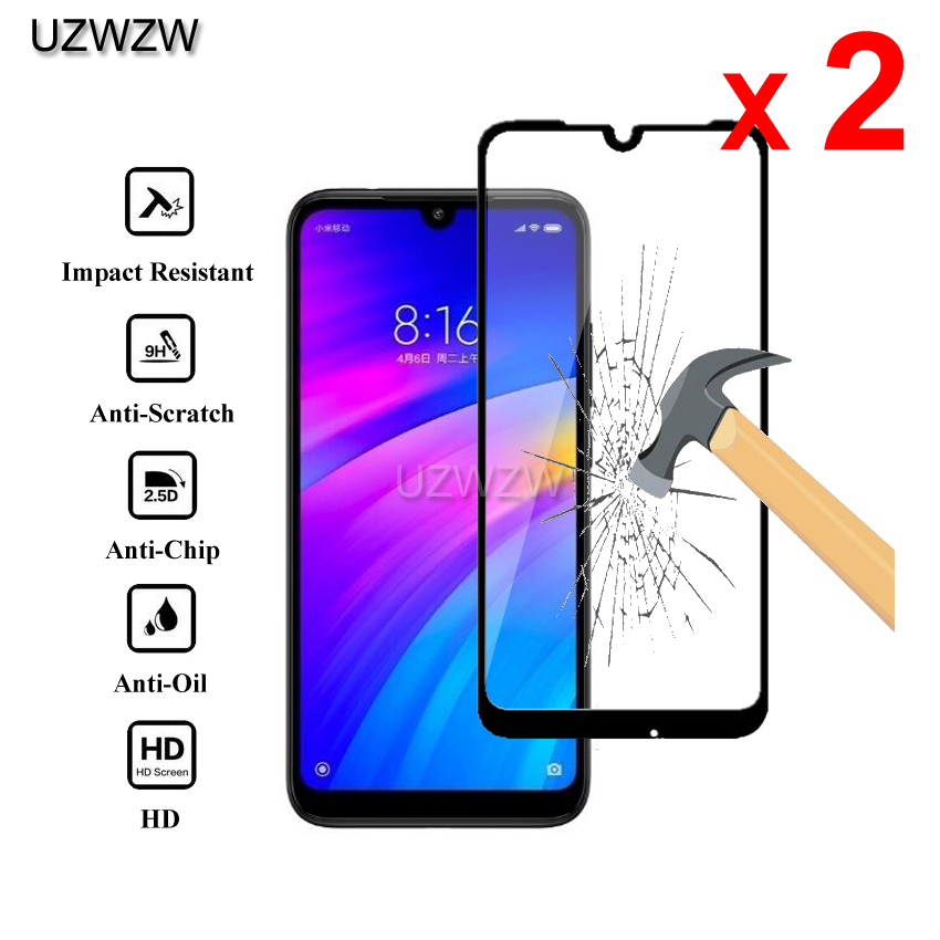 2pcs Tempered Glass For Xiaomi Redmi 7 Full Cover Screen Protective Tempered Glass For Xiaomi Redmi 7