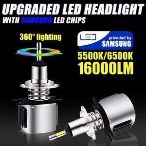 Image 2 - INLONG Mit SAMSUNG Chips H1 Led Scheinwerfer Lampen H4 H7 LED H11 H8 9006 HB4 9005 Hb3 16000LM 5500K 6500K Scheinwerfer Auto Nebel Lichter