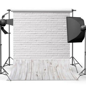 White Brick Wall Wood Board Wooden Floor Baby Portrait Backdrop Photography Background For Photo Studio Vinyl Photophone Shoot vinyl photography backdrops wood floor children background computer printing backdrop for photo studio floor 010