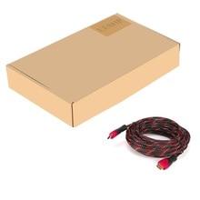 Высокоскоростной 8 метров/26 футов красный + черный HDMI 4K x 2K кабель высокой четкости 2 шт. поддерживает 3D и аудио обратный канал