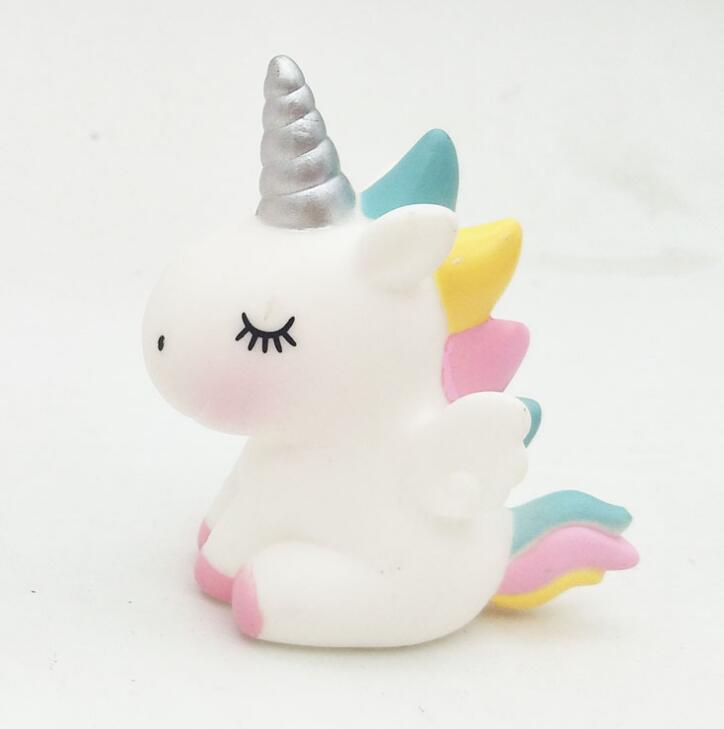 7.5cm unicorn <font><b>horse</b></font> my cute pvc little poni <font><b>horse</b></font> action <font><b>toy</b></font> <font><b>figures</b></font> dolls for girl birthday christmas gift Cake decoration image