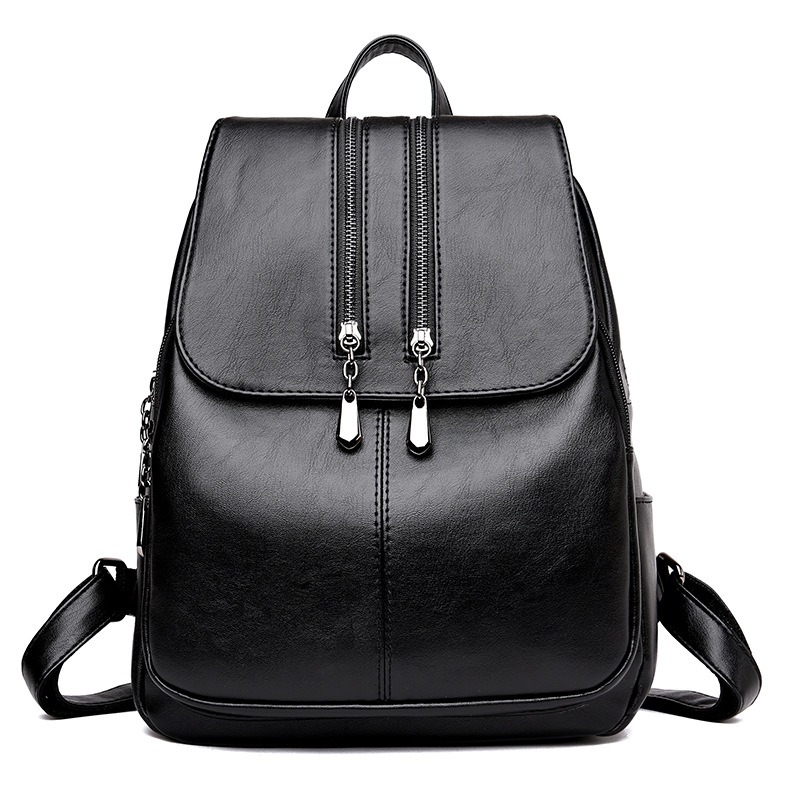 Image 5 - 2019 Brand New Laptop Backpack Women Leather Luxury Backpack Women Fashion Backpack Satchel School Bag Pu-in Backpacks from Luggage & Bags