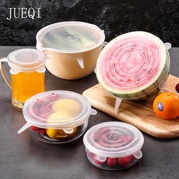6 pièces réutilisable emballage alimentaire couverture Silicone