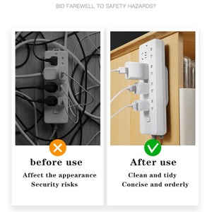 Image 3 - Reihe stecker halter wand montiert draht nahtlose stecker reihe linie bord wand aufkleber buchse schnalle router lagerung kabel manager