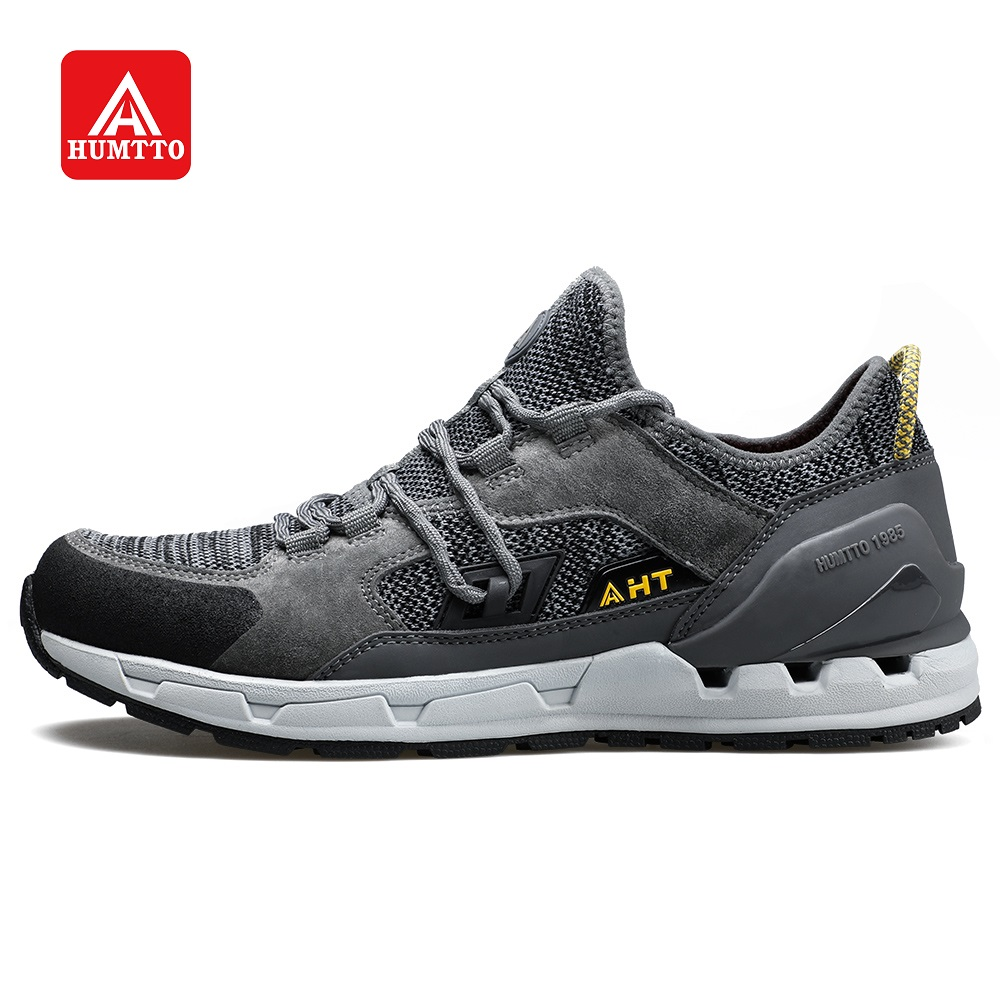 HUMTTO Men's Walking Shoes Breathable Outdoor Cross-country Casual Jogging Sports Shoes Mesh Lace-up Non-slip Wear-resistant