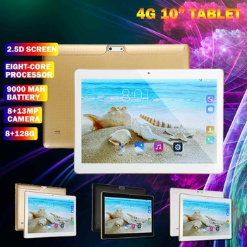 8+128GB 9000mAh 10.1 inch HD Tablet PC Dual Camers/Sims OCta Cores 4G/3G Call Tab GPS WIFI bluetooth 4.0 Pad android 8.0 tab