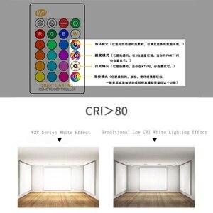 Image 4 - E27 3/5/10w 16 cores mudando magia lâmpada led rgb AC85 265V + branco controle remoto inteligente lâmpada de luz pode ser escurecido memória + ir controle remoto