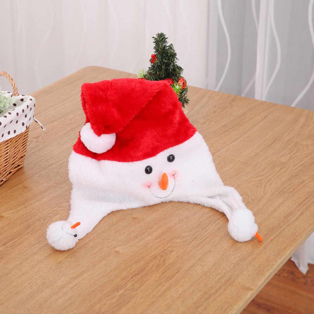 Chapéu de natal de veludo de ouro santa boneco de neve chapéus de algodão chapéu de natal de pelúcia