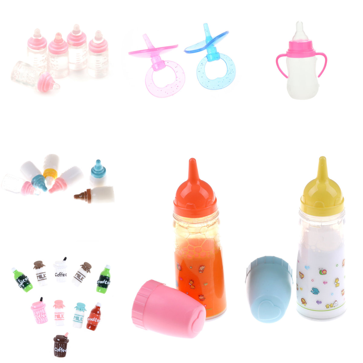 Strange Magic Prop Milk Bottle Liquid Disappearing Milk Accessories Children Gift Toy Magic Baby Reborn Dolls Feeding Bottle Toy