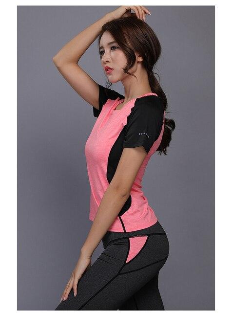 Women Sportswear Yoga Clothing Fitness Clothes Running Tennis Short Sleeve Shirt Yoga Leggings Jogging Workout Sport Suit