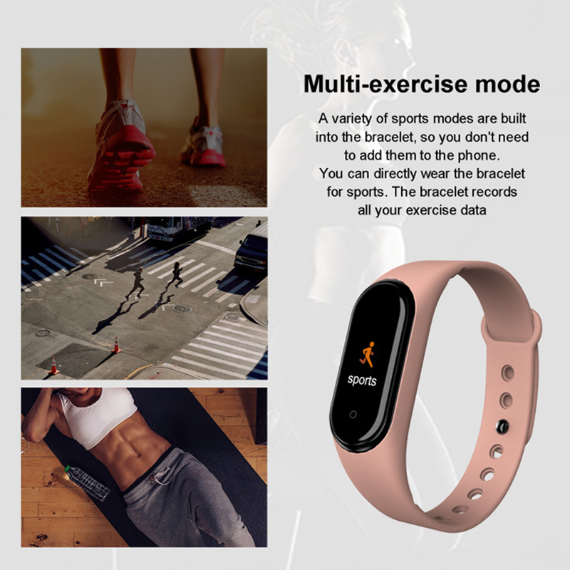 2019 New Smart Color Screen Bracelet Heart Rate Fitness 135mAh Bluetooth5 0 50M Swimming Waterproof pk Mi Band 4 TOP Sell in Smart Wristbands from Consumer Electronics