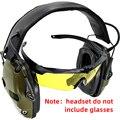 Электронные Наушники для стрельбы усиление шума тактические охотничьи наушники Защита слуха проницаемые линии губчатые амбушюры