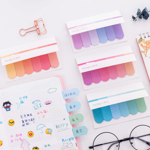 Creative color gradient note paper note paper office learning label sticker note paper bookmark index sticker