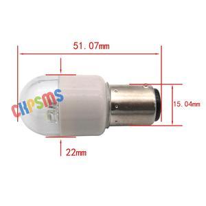 Image 2 - Bombillas LED de tipo Push In, LED BA15D, 220 voltios, aptas para Kenmore Bernina PFAFF SINGER, 10 Uds.