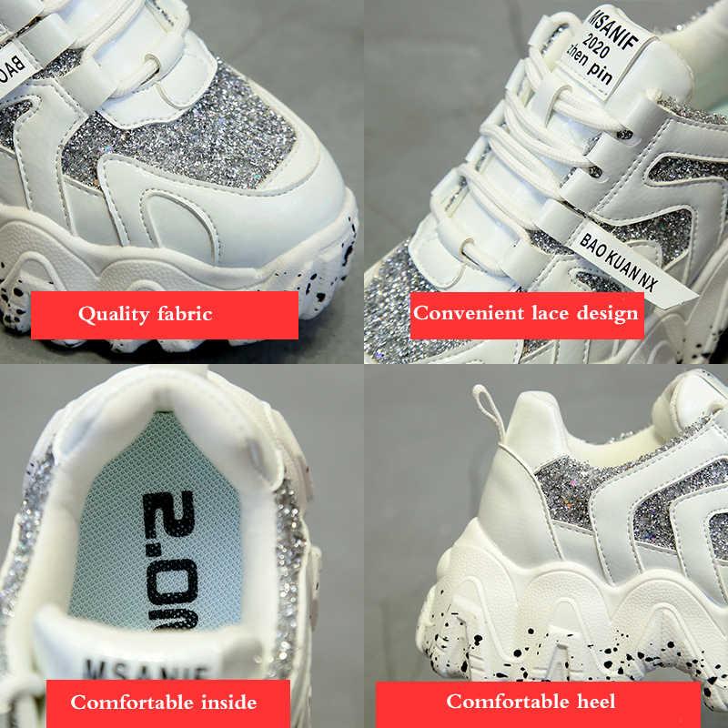 Chunky Sneakers Ernestnm Wiggen Schoenen Voor Vrouwen Bling Rode Womens Schoenen Lente/Herfst 2020 Platform Sneakers Sapatos De Mujer