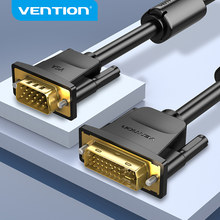Vention-Cable DVI a VGA, convertidor de adaptador macho a VGA para Monitor de portátil, 1080P, 60Hz, DVI-I, 24 + 5 DVI macho a VGA