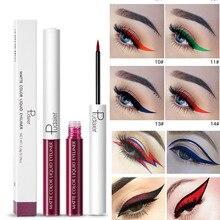 Pudaier Eye Makeup 15 Colors Matte Liquid Color Eyeliner Fast Dry Pencil Waterproof Long Lasting Red White Green Liner Pen