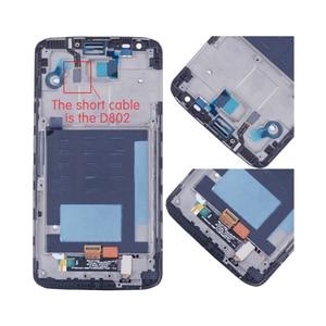 Image 4 - الأصلي ل LG G2 D802 LCD مجموعة المحولات الرقمية لشاشة تعمل بلمس ل LG G2 D800 عرض مع استبدال الإطار D801 D803 VS980 LS980