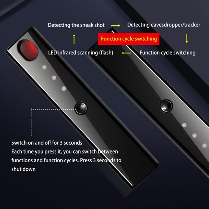 Mini kamera detektor przenośny na podczerwień skaner wielofunkcyjny bezprzewodowy sygnał anty-szczery Tracker mikro kamera GPS Finder