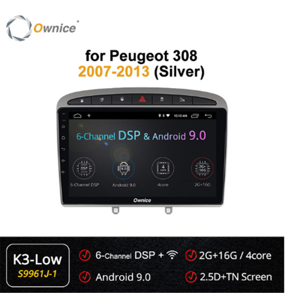 Ownice Android 9.0 4Core Car DVD Player GPS Navi forPeugeot 408 308 308SW 2008 2009 2010 2011 2012 2013 Radio Stereo Head Unit