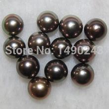 10 11 мм aaa круглый натуральный черный жемчуг без отверстия